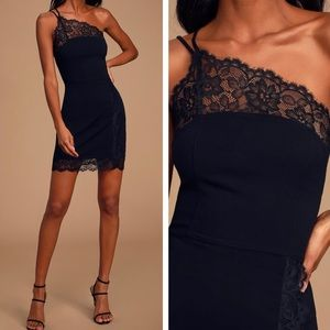 Free People Premonitions Black Lace Bodycon Dress